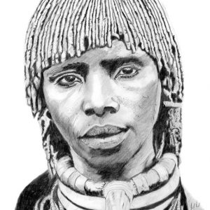 Pencil Drawing - african portrait