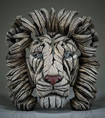 Lion Bust White